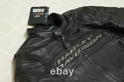 Harley Davidson Men's Competition III 3 Black Leather Jacket Armor M 98024-12VM