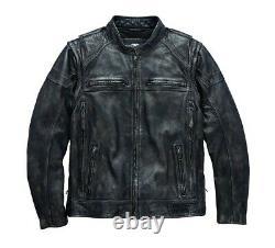 Harley-Davidson Men's Dauntless Convertible Leather Jacket Vest