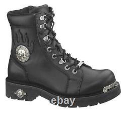 Harley-Davidson Men's Diversion Skull 6-Inch Lace-Up Motorcycle Boots D94169