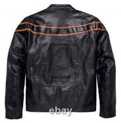 Harley-Davidson Men's Double Ton Slim Fit Leather Jacket 98033-18VM