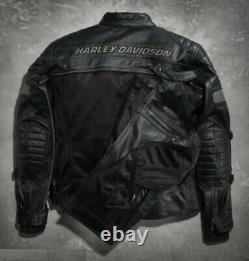 Harley Davidson Men's FXRG Switchback Leather Jacket 2in1 98095-15VM M LT L 3XL