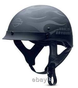 Harley-Davidson Men's Ghost Flames Hybrid Ultra-Light Half Helmet 98242-13VM