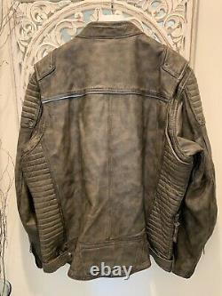 Harley Davidson Men's Hamilton Eagle Charcoal Grey Leather Jacket 97192-18VM XXL