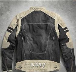 Harley-Davidson Men's Knave Soft Denim + Leather Jacket 97142-17VM 2XL NEW