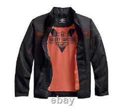 Harley-Davidson Men's Lightweight Mesh Accent Nylon Jacket, Black 97454-18VM
