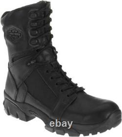 Harley-Davidson Men's Lynx Waterproof Black 8-Inch Motorcycle Boots D95149