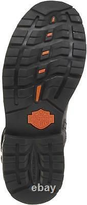 Harley-Davidson Men's Manifold 7-Inch Black Leather Motorcycle Boots D91692