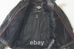 Harley Davidson Men's ROADWORN Triple Vent Black Leather Jacket 3XL 97057-15VM