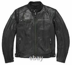 Harley Davidson Men's Reflective Skull Leather Jacket 98122-17EM