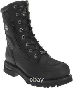 Harley-Davidson Men's Riddick 8-Inch Lace-UP Black Motorcycle Boots D98308