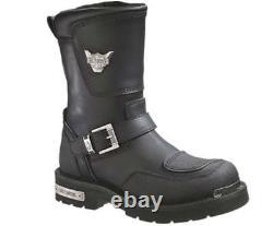 Harley-Davidson Men's Shift Engineer Zip Black 9-Inch Motorcycle Boots, D95115