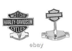 Harley-Davidson Men's Sterling Silver Bar & Shield Cufflinks HDZ0041