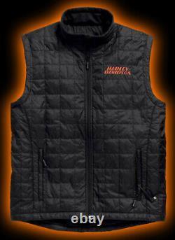 Harley-Davidson Men's Stimulate Heated 7V Black Motorcycle Vest 98557-15VM