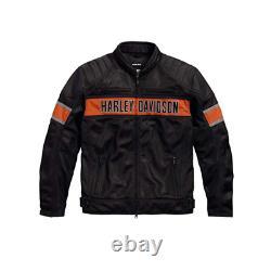 Harley-Davidson Men's Trenton Mesh Riding Jacket Free and Fast Shipping