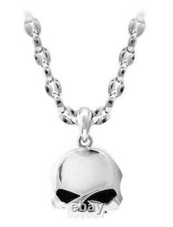Harley-Davidson Men's Willie G Adjustable Stainless Steel Skull Necklace HSN0065