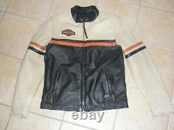 Harley Davidson Mens #1 Racing Mid-Weight Colorblocked Leather Jacket NWT