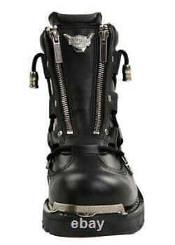 Harley-Davidson Mens 6.25 Brake Light Black Leather Motorcycle Boots D91680