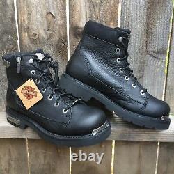 Harley Davidson Mens Boots Size 10 Black Leather Chipman