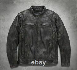 Harley Davidson Mens Dauntless Convertible Leather Jacket Vest M XLT 98133-17VM