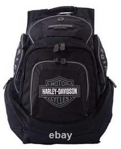Harley-Davidson Mens Deluxe Backpack BP1900S-GRYBLK