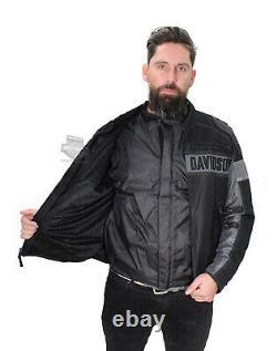 Harley-Davidson Mens Mecca Textile & Mesh Reflective Black Jacket 98295-17VM