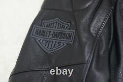 Harley Davidson Mens Reflective Willie G Skull Black Leather Jacket 98099-07VM L
