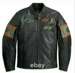 Harley Davidson Mens Screaming Eagle Motorbike Cowhide Leather Jacket US-XL
