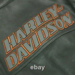 Harley Davidson Mens Screaming Eagle Motorcycle Motorbike Cowhide Leather Jacket