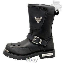 Harley-Davidson Mens Shift Engineer 9 Black Leather Motorcycle Boots D95115