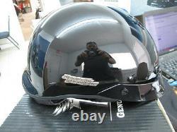 Harley Davidson Mens Spoiler Ultra Lite Hybrid Gloss Black 1/2 Helmet 98334-09VM