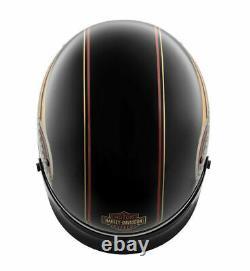 Harley-Davidson Mens Ultra M04 B&S Black with Gold-Tone Half Helmet 98112-20VX