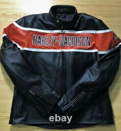 Harley Davidson Mens Victory Lane Motorbike Leather Jacket