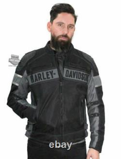 Harley-Davidson Mens XL Mecca Textile & Mesh Reflective Black Jacket 98295-17VM