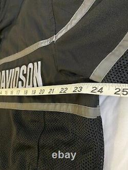 Harley-Davidson Mess Riding Jacket with Body Armor Air Venting Lg