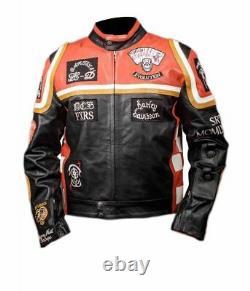 Harley Davidson Mickey Rourke Biker Leather Jacket