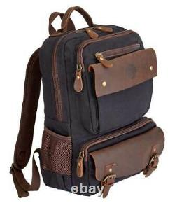 Harley-Davidson Mustang Backpack Weathered Leather Accents, Black 99107-BLACK