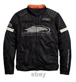 Harley-Davidson Official Men Motorcycle Screamin' Eagle Mesh Riding Jacket Black