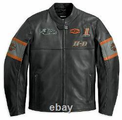 Harley Davidson Racing Screamin' Eagle Men's Motorcycle Jacket Black