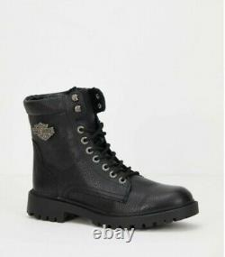 Harley Davidson Retals Leather Biker Boots size uk 9 / eu 43