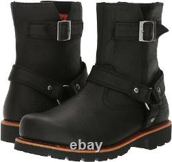 Harley Davidson SANDFIELD Mens Riding Motorcycle Side Zip Black Leather Boots