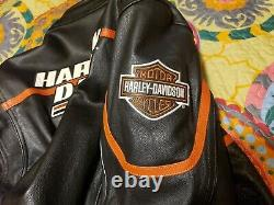 Harley Davidson Screamin Eagle Leather Motorcycle Jacket XL XLNT NEW Condition
