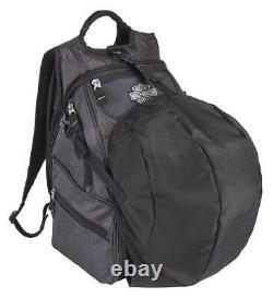 Harley-Davidson Tough Terrain Backpack with Helmet Holder Honeycomb Black 99313