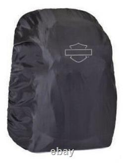 Harley-Davidson Wired II USB Black Backpack with Hide-Away Rain Cover 99224-BLACK