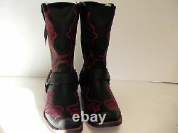 Harley Davidson mens boots Slayton D93141 leather black oil resisting size 10.5