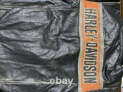 Harley Men's Victory Lane Leather Jacket Racing Design. XL