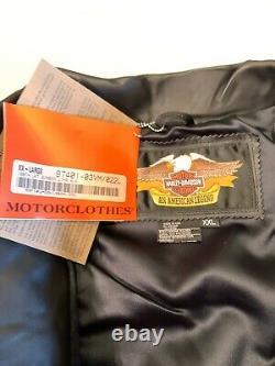 Harley-davidson 100th Anniversary Mens Bomber Leather Jacket New 97401-03vm XXL