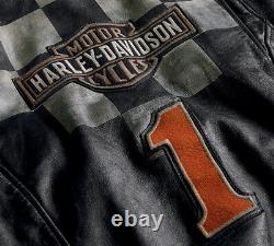 Harley-davidson Men's Vintage Race-inspired 1903 Leather Jacket 97000-20vm XL
