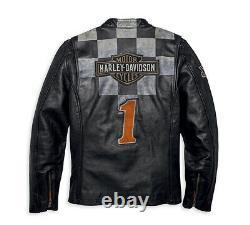 Harley-davidson Men's Vintage Race-inspired 1903 Leather Jacket 97000-20vm XXL