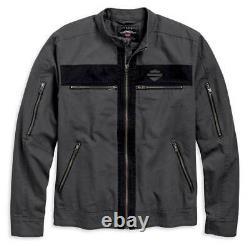 Harley-davidson Men's Zipped Casual Canvas Jacket 97519-19vm Large