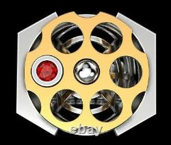 Heavy Men's Biker Ring HARLEY DAVIDSON Russian Roulette In 925 Sterling Silver